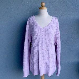 ST JOHN Knit Pink Sparkle Sweater Size 3XL